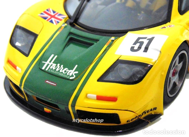 Slot Cars: SUPERSLOT MCLAREN F1 GTR #51 HARRODS DEREK BELL / ANDY WALLACE 24 H LE MANS 1995 SCALEXTRIC UK H4026 - Foto 10 - 167667880