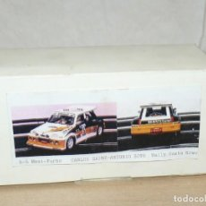 Slot Cars: SCALEXTRIC MINI REPLICAS K.012 RENAULT 5 MAXI TURBO C. SAINZ A. BOTO A86 AÑOS 90. Lote 168120292