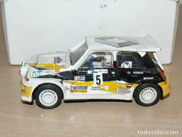 Slot Cars: Scalextric Mini Replicas K.012 Renault 5 Maxi Turbo C. Sainz A. Boto A86 años 90 - Foto 3 - 168120292