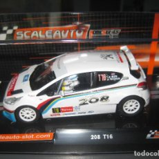 Slot Cars: PEUGEOT 208 RALLY YPRESS 2013 HOME SERIES DE SCALEAUTO. Lote 168578632