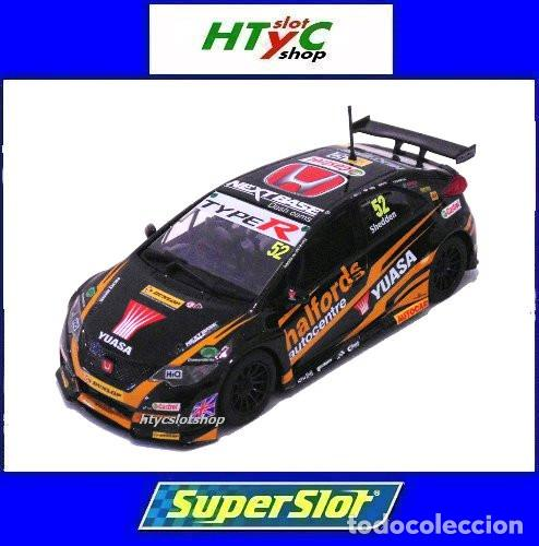 OFERTÓN! SUPERSLOT HONDA CIVIC TYPE R #52 BTCC 2017 GORDON SHEDDEN SCALEXTRIC UK H3915 (Juguetes - Slot Cars - Magic Cars y Otros)