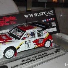 Slot Cars: OSC. SRC. OFERTA!!! PEUGEOT 205 T16 EVO2. ED. ESP.MAS SLOT COMPETICION. SOLO 315 UNIDADES.REF. 03702. Lote 182859050