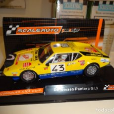 Slot Cars: SCALEAUTO. DE TOMASO PANTERA GR.3. RALLY MONTECARLO 1976. REF. SC-6084. Lote 169907452