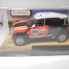 Slot Cars: SCALEAUTO MINI ALL 4 RACING DAKAR 2012 N°312 REF. SC 6111. Lote 171065024