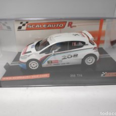 Slot Cars: SCALEAUTO PEUGEOT 208 T16 RALLY YPRESS 2013 R SERIES REF. SC-6181R. Lote 171065715