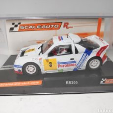 Slot Cars: SCALEAUTO FORD RS200 GR.B PUROLATOR C.SAINZ REF. SC-6185R R SERIES. Lote 171251549
