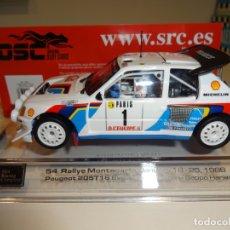 Slot Cars: SRC - OSC. PEUGEOT 205 T16 EVO2. RALLY MONTECARLO. SALONEN. REF. 03701. Lote 171631752