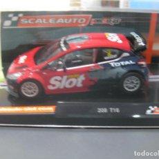 Slot Cars: PEUGEOT 208 EDICION ESPECIAL MASSLOT HOME SERIES DE SCALEAUTO. Lote 171890323