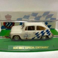 Slot Cars: COCHE SEAT 600 E ESPECIAL CENTENARIO R.C.D ESPAÑOL NUNCA JUGADO DE REPROTEC. Lote 172689443