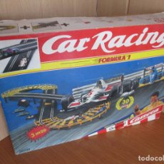Slot Cars: CARRERA CAR RACING (TIPO SCALEXTRIC) , INCLUYE POSTER SCHUMACHER DESPLEGABLE. Lote 172938217