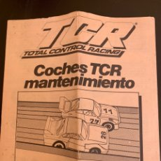 Slot Cars: MANUAL INSTRUCCIONES COCHES TCR MANTENIMIENTO MODEL-IBER. Lote 173562852