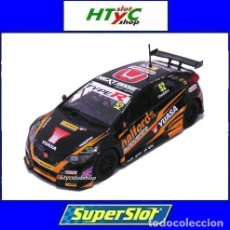 Slot Cars: OFERTÓN! SUPERSLOT HONDA CIVIC TYPE R #52 BTCC 2017 GORDON SHEDDEN SCALEXTRIC UK H3915. Lote 174189972