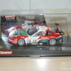 Slot Cars: SCALEXTRIC CARRERA EVOLUTION COCHE FERRARI 575 GTC GPC GIESSE SQUADRA CORSE SPA 24H 2004 SLOT CAR. Lote 174263089