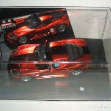 Slot Cars: RARO CHEVROLET CORVETTE CUSTOM ROT METALLIC DE CARRERA, REF.-27174 . Lote 174487434