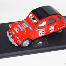 Slot Cars: PINK-KAR CITROEN 2 CV 1974 RALLYE ROJO REF: CV 035 NUEVO EN CAJA. Lote 175265098