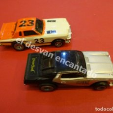 Slot Cars: LOTE DE 2 COCHES DE CARRERAS SLOT. MODEL-IBER S.A. MADE IN SPAIN. BUEN ESTADO. Lote 175774357