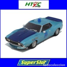 Slot Cars: SUPERSLOT AMC JAVELIN ALABAMA STATE TROOPER SIRENA Y SONIDO SCALEXTRIC UK H4058. Lote 177284205