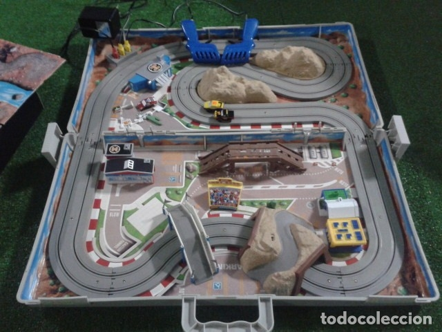 MICROMACHINES ELECTRICO ( RACING TEAM - 1990 ) SCALEXTRIC MALETIN CON COCHES, MANDOS, CONECTOR , VER (Juguetes - Slot Cars - Magic Cars y Otros)
