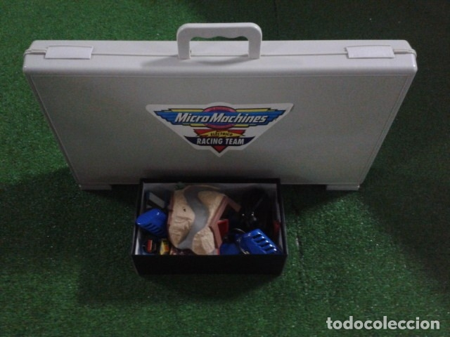 Slot Cars: MICROMACHINES ELECTRICO ( RACING TEAM - 1990 ) SCALEXTRIC MALETIN CON COCHES, MANDOS, CONECTOR , VER - Foto 21 - 177328562