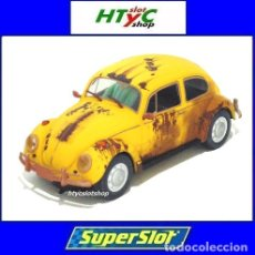 Slot Cars: SUPERSLOT VOLKSWAGEN BEETLE RUSTY YELLOW SCALEXTRIC UK H4045. Lote 177405250