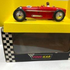 Slot Cars: COCHE SLOT PINK-KAR BUGATTI ROJO TYPE 59 GRAN PRIX CV-017 1933 CON CAJA NUEVO A ESTRENAR . Lote 177480155