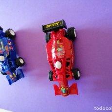 Slot Cars: LOTE 4 COCHES PARA PISTAS SLOT CARS 2 FORMULA Y 2 CARRERA GO !!!! FUNCIONANDO CORRECTAMENTE.. Lote 177843904