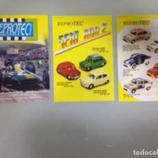 Slot Cars: SLOT, REPROTEC CATALOGO 2003 + FICHA SEAT 600 E + FICHA FIAT ABARTH 1000 TC. Lote 178714483