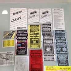Slot Cars: SLOT,SLOT MANIA, LISTADOS DE REFERENCIA Y PRECIOS 1996-1997-1998-2000-2001-02+ CALENDARIOS BOLSILLO. Lote 178714938