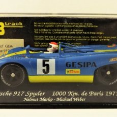 Slot Cars: SLOT GB TRACK PORSCHE 917 SPYDER PARÍS 1971. Lote 178757946