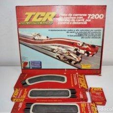 Slot Cars: TCR 7200 SIN COCHES MAS AMPLIACIONES DE MODEL IBER AÑOS 80. Lote 179182238