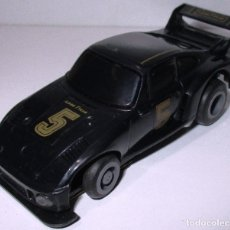 Slot Cars: TCR COCHE PORSCHE NEGRO, IDEAL TOY / MODEL-IBER 1980, MADE IN SPAIN. Lote 180032872