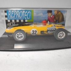 Slot Cars: REPROTEC BRM F1 AMARILLO REF. 5037. Lote 180032877