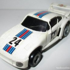 Slot Cars: TCR COCHE PORSCHE BLANCO, IDEAL TOY / MODEL-IBER 1980, MADE IN SPAIN. Lote 180033131