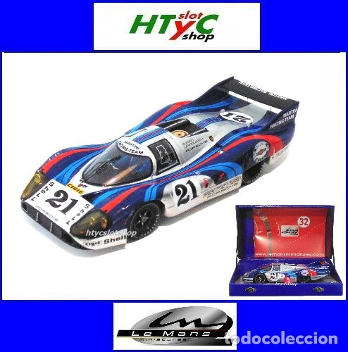 LE MANS MINIATURES PORSCHE 917 LH #21 MARTINI LE MANS 1971 LARROUSSE / ELFORD 132086/21M (Juguetes - Slot Cars - Magic Cars y Otros)