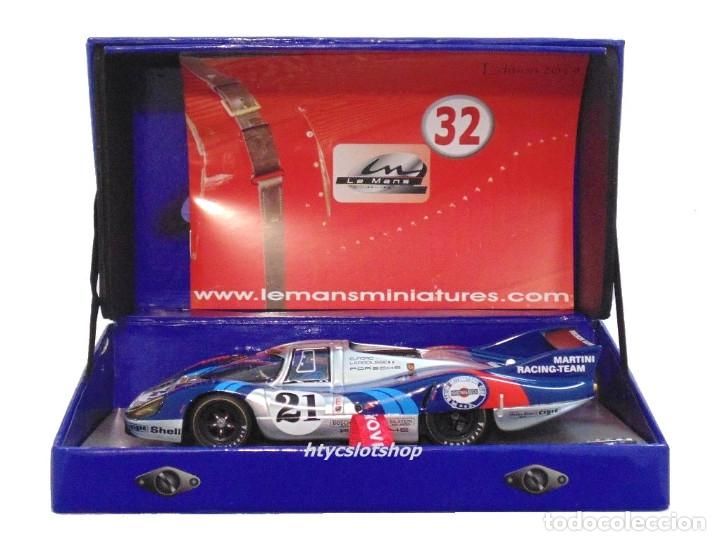 Slot Cars: LE MANS MINIATURES PORSCHE 917 LH #21 MARTINI LE MANS 1971 LARROUSSE / ELFORD 132086/21M - Foto 10 - 195130690