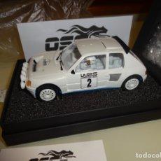 Slot Cars: OSC. PEUGEOT 205 T16 EVO1. WRS2. REF. B01010. Lote 182319082