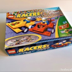 Slot Cars: LEGO RACERS THE GAME EL JUEGO PISTA Y 2 COCHES. Lote 182629508