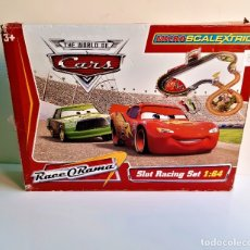 Slot Cars: MICRO SCALEXTRIC THE WORLD OF CARS 1/64 GRANDE. Lote 182632301