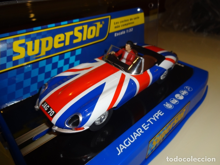 Slot Cars: Superslot. Jaguar E-Type Union Jack. Ref. H3878 - Foto 2 - 194230713