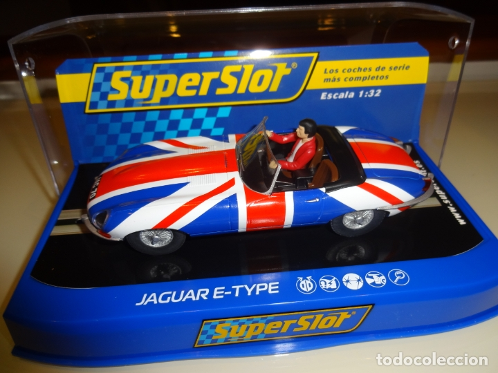 SUPERSLOT. JAGUAR E-TYPE UNION JACK. REF. H3878 (Juguetes - Slot Cars - Magic Cars y Otros)