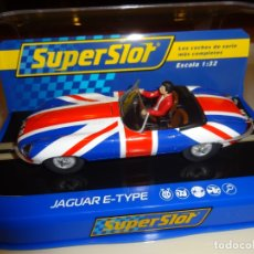 Slot Cars: SUPERSLOT. JAGUAR E-TYPE UNION JACK. REF. H3878. Lote 194230713