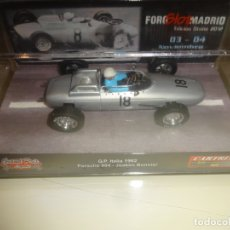 Slot Cars: CARTRIX. PORSCHE 804 Nº18. GP ITALIA 1962. FOROSLOT MADRID 2012. REF. 0027. Lote 183019015
