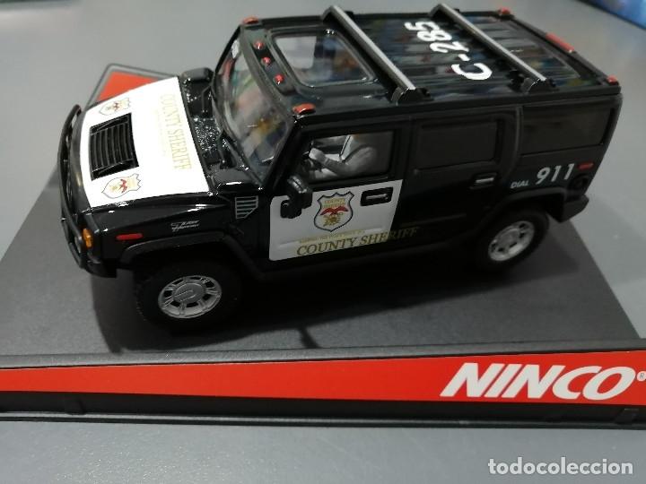 50456 - HUMMER COUNTY SHERIFF MOTOR NC-7, 4X4 Y GUIA BASCULANTE DE NINCO (Juguetes - Slot Cars - Magic Cars y Otros)