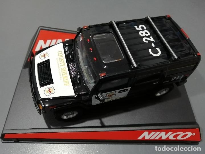 Slot Cars: 50456 - HUMMER COUNTY SHERIFF MOTOR NC-7, 4X4 Y GUIA BASCULANTE DE NINCO - Foto 3 - 183089878