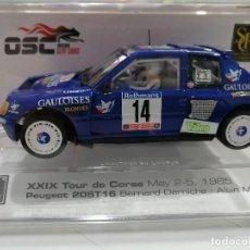 Slot Cars: 03601 - PEUGEOT 205 T16 GAULOISES XXIX TOUR DE CORSE 85 DE OSC - SRC. Lote 184493492