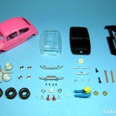 Slot Cars: SLOT 1/32 SEAT / FIAT 600 COLOR ROSA FUERTE KIT PLASTICO COMPLETO CLASSIC SCALEXTRIC. Lote 231764640