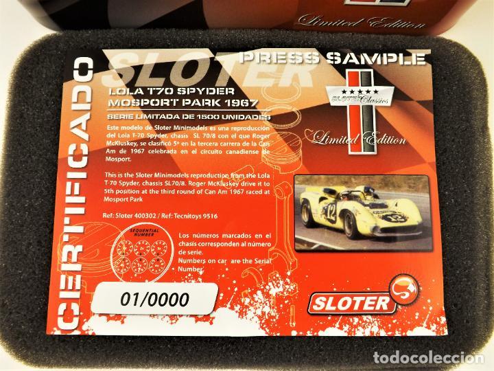 Slot Cars: Sloter Classics Lola T70 Spyder Serie limitada 1500 unidades - Foto 8 - 187382765