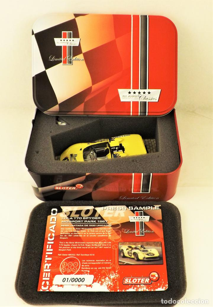 Slot Cars: Sloter Classics Lola T70 Spyder Serie limitada 1500 unidades - Foto 11 - 187382765
