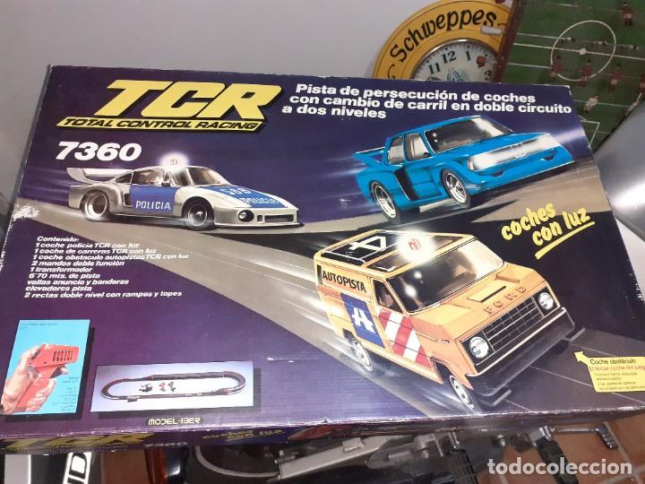 TCR 7360 MODEL IBER 1980.CON 4 COCHES.FORD,BMW Y PORSCHE. (Juguetes - Slot Cars - Magic Cars y Otros)