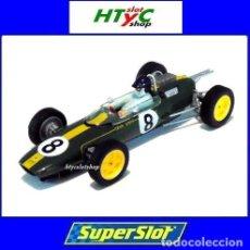 Slot Cars: SUPERSLOT LEGENDS LOTUS 25 #8 JIM CLARK GP MONZA 1963 SCALEXTRIC UK H4068A. Lote 191034417